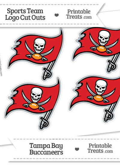 Small Tampa Bay Buccaneers Logo Cut Outs from PrintableTreats.com