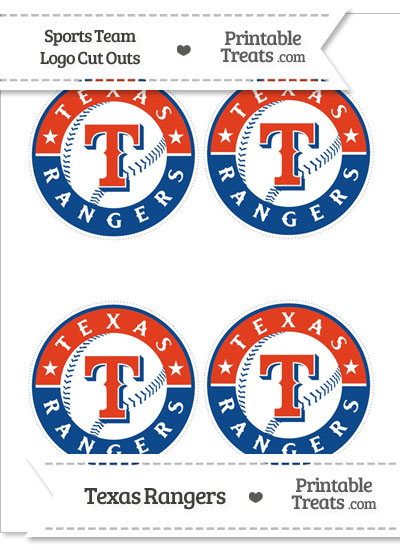 Small Texas Rangers Logo Cut Outs from PrintableTreats.com