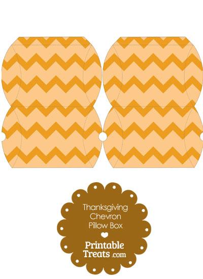 Small Thanksgiving Chevron Pillow Box from PrintableTreats.com