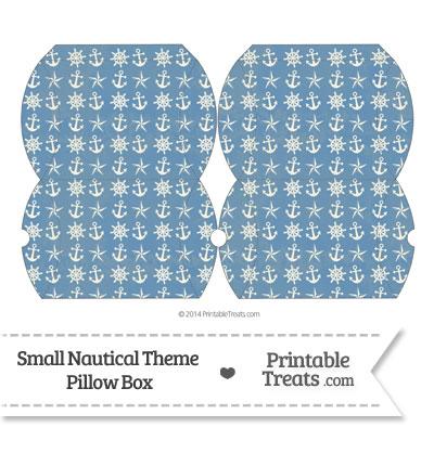 Small Vintage Blue Nautical Pillow Box from PrintableTreats.com
