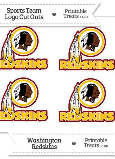 Small Washington Redskins Logo Cut Outs from PrintableTreats.com