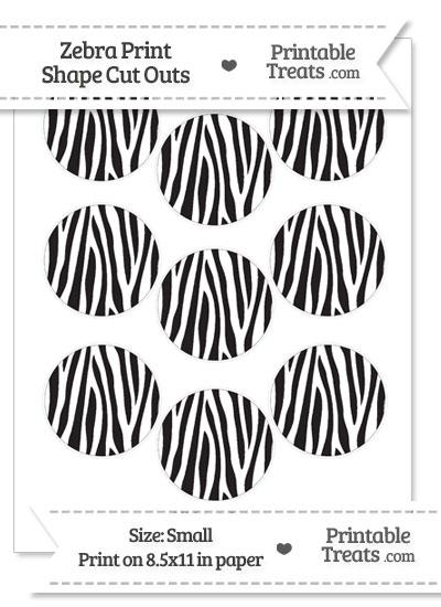 Small Zebra Print Circle Cut Outs from PrintableTreats.com