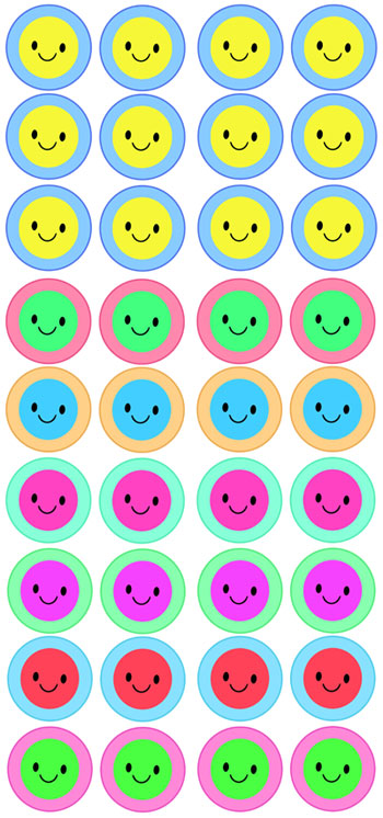 smiley face cupcake toppers