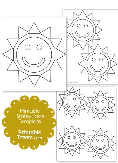 Smiley Face Sun Template from PrintableTreats.com