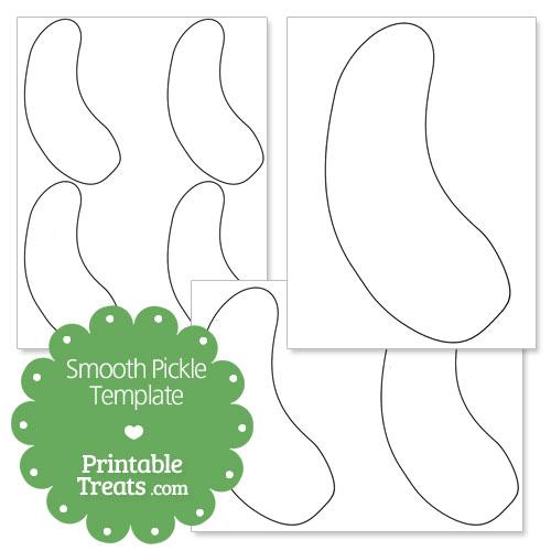 printable smooth pickle shape