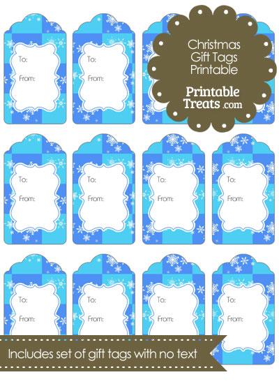 Snowflake Checkered Gift Tags from PrintableTreats.com