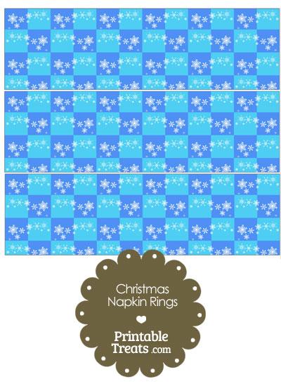 Snowflake Checkered Napkin Rings from PrintableTreats.com