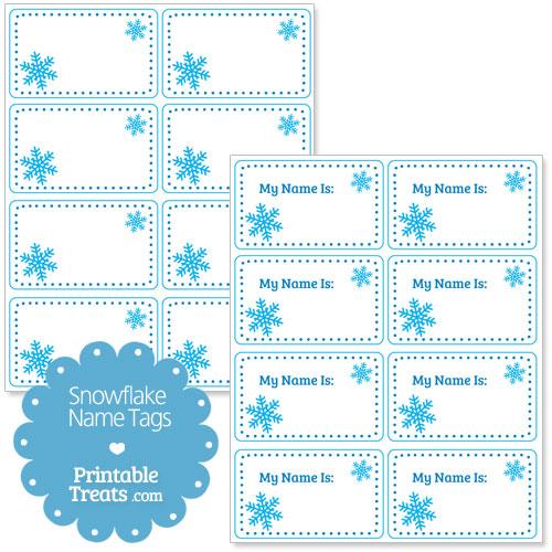 snowflake name tags