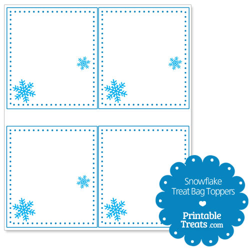 snowflake treat bag toppers