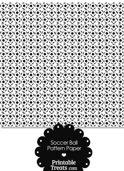 Soccer Ball Pattern Digital Scrapbook Paper from PrintableTreats.com