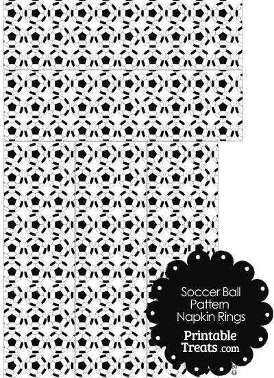 Soccer Ball Pattern Napkin Rings from PrintableTreats.com
