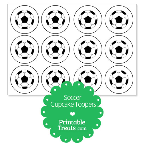 soccer cupcake toppers