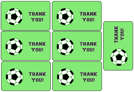 soccer party favor tags