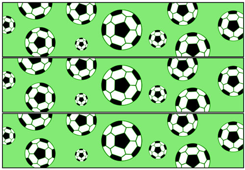soccer party water bottle labels