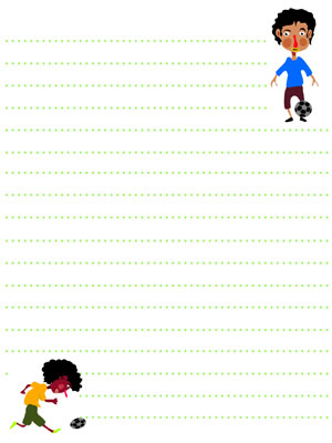 soccer player stationery