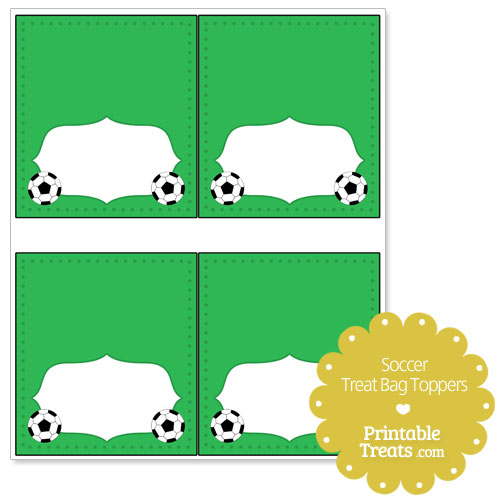 soccer treat bag toppers