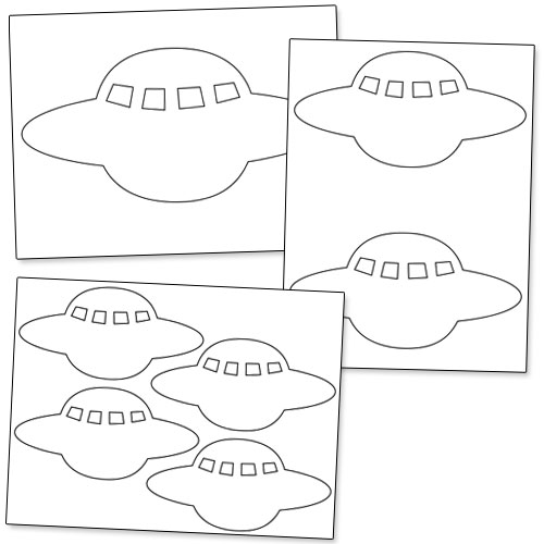 spaceship pattern printable