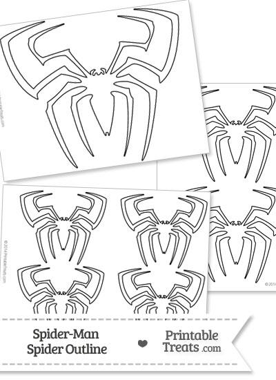 Spider-Man Spider Outline from PrintableTreats.com