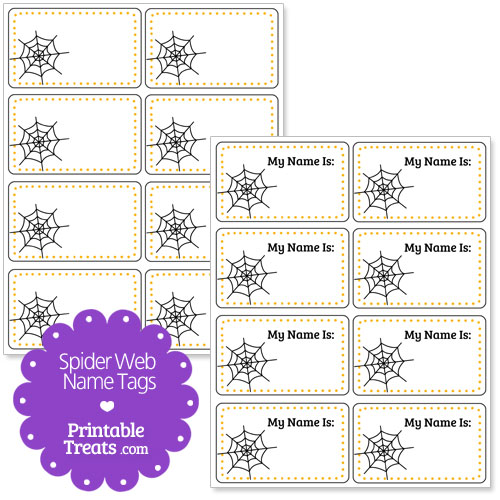 spider web name tags