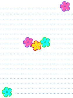spring flower stationery