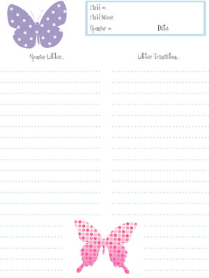 free spring stationery for kids