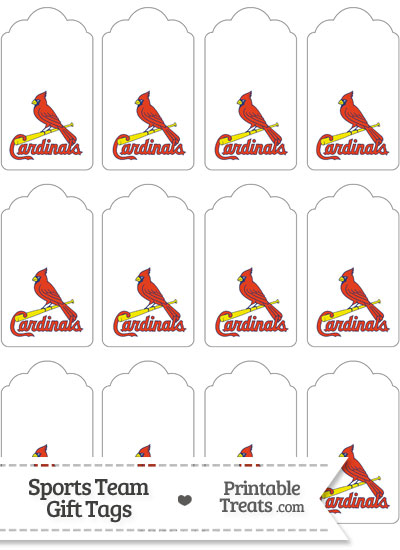 St Louis Cardinals Gift Tags from PrintableTreats.com