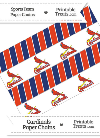 St Louis Cardinals Paper Chains from PrintableTreats.com