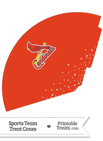 St Louis Cardinals Treat Cone Printable from PrintableTreats.com