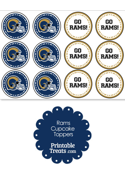 St Louis Rams Cupcake Toppers from PrintableTreats.com