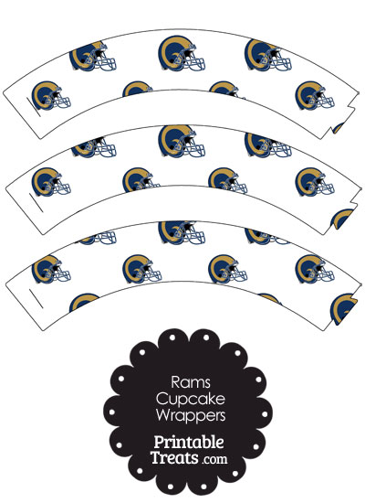 St Louis Rams Football Helmet Cupcake Wrappers from PrintableTreats.com