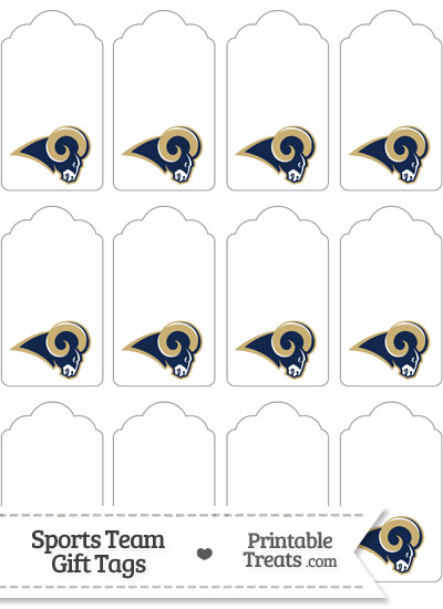 St Louis Rams Gift Tags from PrintableTreats.com