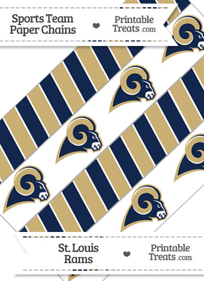 St Louis Rams Paper Chains from PrintableTreats.com
