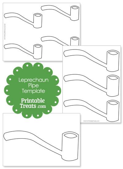 St Patricks Day Leprechaun Pipe Template from PrintableTreats.com