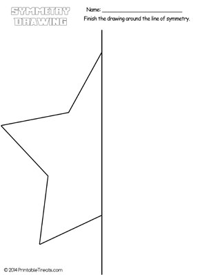 star symmetry drawing worksheet