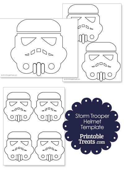 Star Wars Stormtrooper Helmet Template from PrintableTreats.com