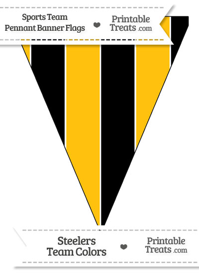 Steelers Colors Pennant Banner Flag from PrintableTreats.com
