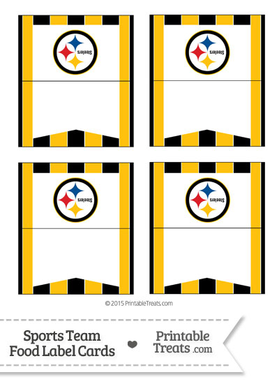Steelers Food Label Buffet Cards from PrintableTreats.com