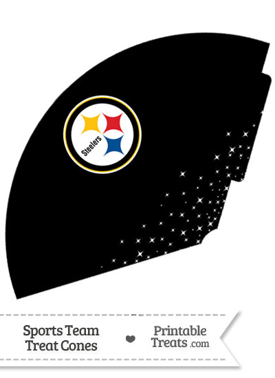 Steelers Treat Cone Printable from PrintableTreats.com