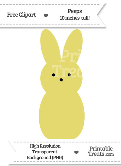 Straw Yellow Peeps Clipart from PrintableTreats.com