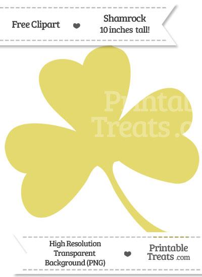 Straw Yellow Shamrock Clipart from PrintableTreats.com