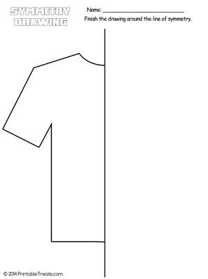 t shirt symmetry drawing worksheet