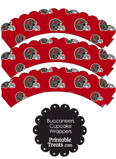 Tampa Bay Buccaneers Football Helmet Scalloped Cupcake Wrappers from PrintableTreats.com