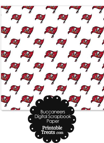 Tampa Bay Buccaneers Logo Digital Paper from PrintableTreats.com