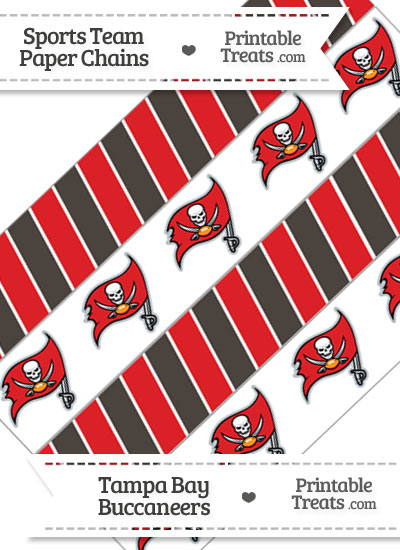 Tampa Bay Buccaneers Paper Chains from PrintableTreats.com
