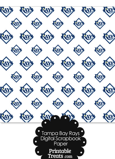 Tampa Bay Rays Baseball Digital Paper from PrintableTreats.com