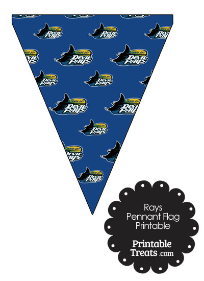 Tampa Bay Rays Baseball Pennant Banners from PrintableTreats.com