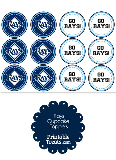 Tampa Bay Rays Cupcake Toppers from PrintableTreats.com