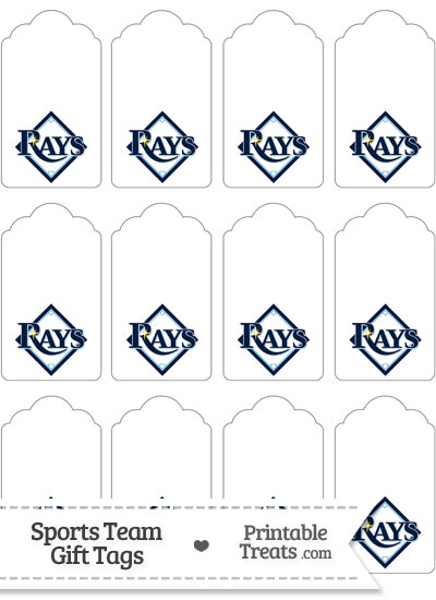 Tampa Bay Rays Gift Tags from PrintableTreats.com