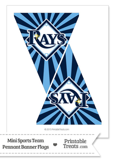 Tampa Bay Rays Mini Pennant Banner Flags from PrintableTreats.com
