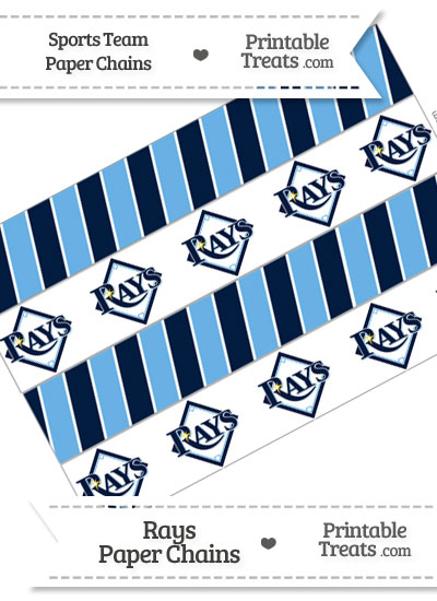 Tampa Bay Rays Paper Chains from PrintableTreats.com